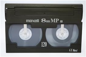 A Video8 videocassette.