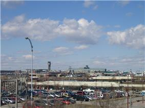 Train station and Trudeau Airport in Dorval