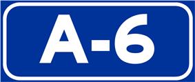 Autovía A-6 shield}}