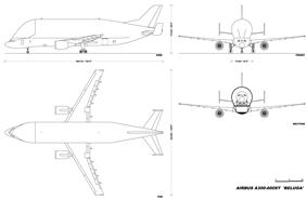 Layout of A300-600ST Beluga