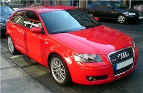 Second generation Audi A3 with S-Line sports package.