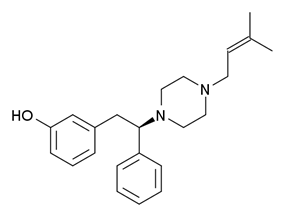Chemical structure of AD-1211.