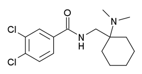 Chemical structure of AH-7921.