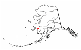 Location of Bethel within the state of Alaska
