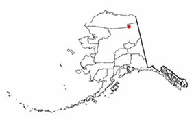Location of Arctic Village, Alaska