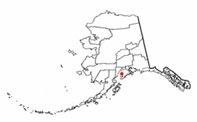 Location of Kasilof, Alaska