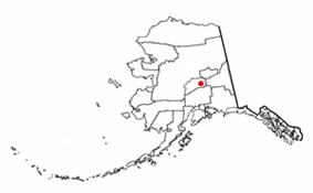 Location of Healy, Alaska