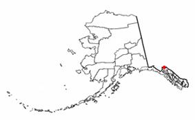 Location of Mosquito Lake, Alaska