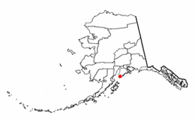 Location of Nanwalek (AKA English Bay, Alaska)