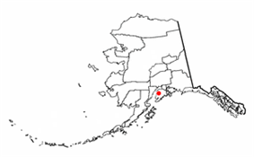 Location of Soldotna, Alaska