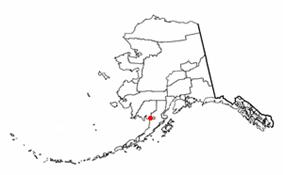 Location of Naknek, Alaska