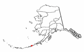 Location of Unalaska, Alaska