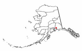 Location of Valdez, Alaska