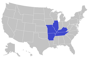 American Midwest Conference locations