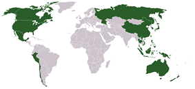 Map of APEC2007 countries