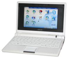 An ASUS Eee PC netbook.