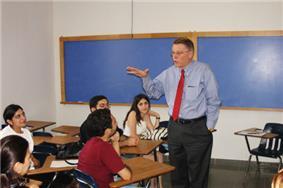 ATC students at orientation session with Prof. John Nichols