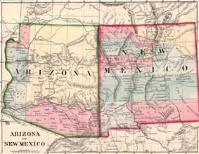 Location of Arizona Territory