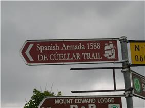 De Cuellar Trail signpost at Grange near Streedagh.