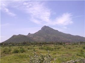 The sacred Arunachala hill, Tiruvannamalai