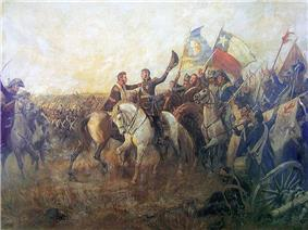 Portrait of the battle of Maipu