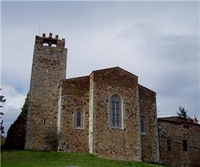 Apse of the pieve of San Giovanni Battista.