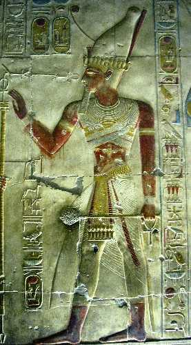 Image of Seti I from his temple in Abydos