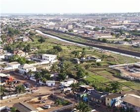 View of Accra, Ghana from above.