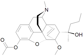 Chemical structure of Acetorphine.