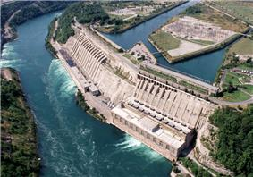 Aerial view of the Adam Beck/Queenston-Chppawa Hydro Plant