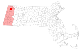 Location in Berkshire County in Massachusetts