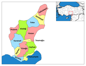 Districts of Adana