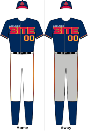 Adelaide Bite's home and away uniform.