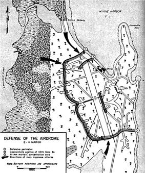 Map showing an expanded perimeter that now includes the airstrip.