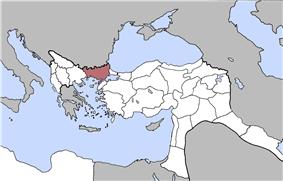 Location of Edirne Vilayet