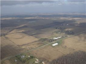 Fields in western Salem Township
