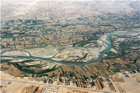 Aerial photograph of an area near Kandahar
