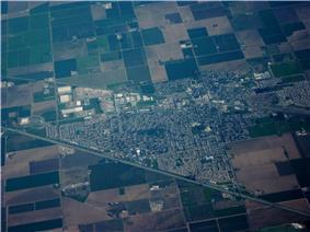 Aerial view of Dixon