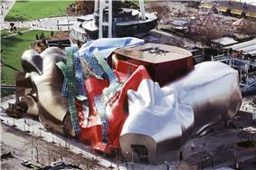 Design by Frank Gehry, exterior fabricated by Zahner.