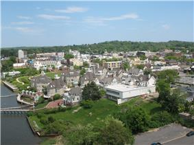 Aerial view of Red Bank
