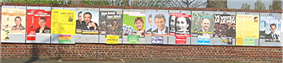 Electoral posters for the first round