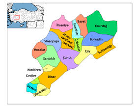 Districts of Afyonkarahisar