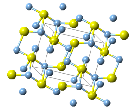 Ball-and-stick model of silver sulfide