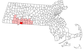 Location in Hampden County in Massachusetts