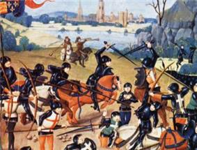 15th century image of Battle of Agincourt taken from Froissart