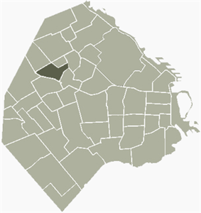 Location of Agronomía within Buenos Aires