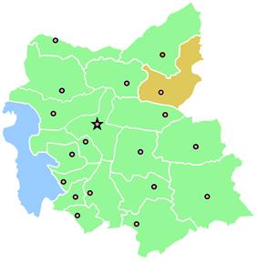 Location of Ahar County in East Azerbaijan Province