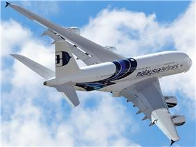 A Malaysia Airlines Airbus A380