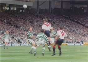 A football match.