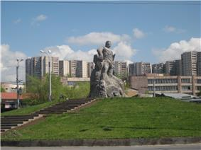 Ajapnyak district and the statue of Kevork Chavush